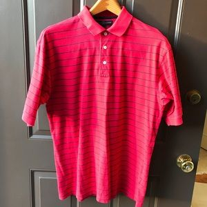 Tommy Hilfiger Polo M red with blue stripes